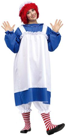 Plus Size Adult Licensed Raggedy Ann Costume