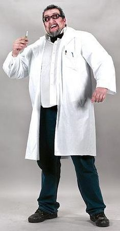 Plus Size Adult Mad Scientist Lab Coat
