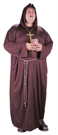 Plus Size Adult Monk Costume