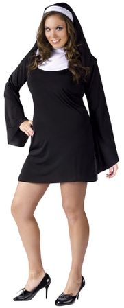 Plus Size Adult Naughty Nun Costume