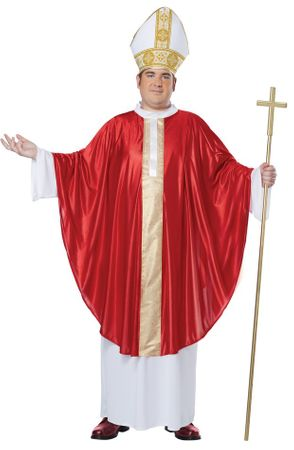 3b05182c16887 Plus Size Adult Pope Costume - Candy Apple Costumes - 3X and 4X Costumes