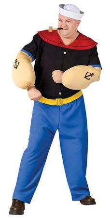 Plus Size Adult Popeye Costume