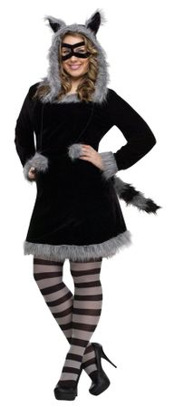 Plus Size Adult Racy Raccoon Costume
