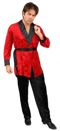 Plus Size Adult Red Smoking Jacket