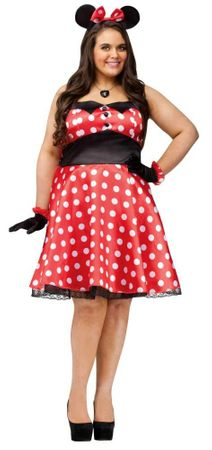 Plus Size Adult Retro Miss Mouse Costume