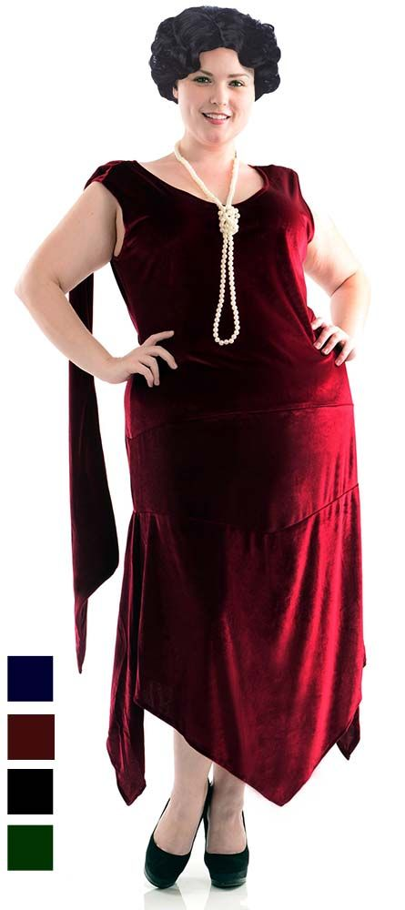 1bd0349080 Plus Size Adult Sandy Speakeasy Flapper Costume
