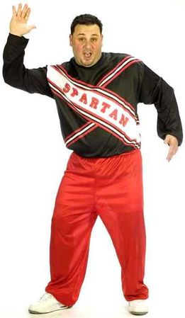 Plus Size Adult Spartan Cheerleader Craig Costume