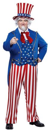 Plus Size Adult Star-Spangled Uncle Sam Costume
