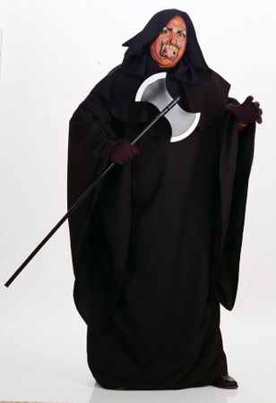 Plus Size Black Hooded Robe