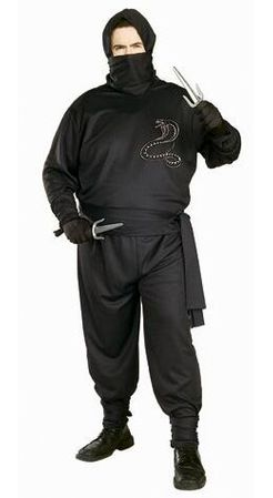 Plus Size Black Ninja Costume