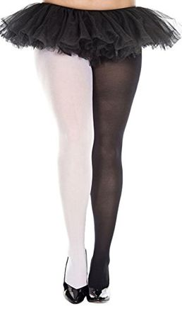 Plus Size Black/White Jester Tights