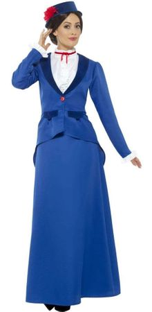 Adult Blue Victorian Nanny Costume