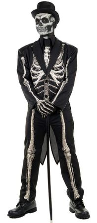 Plus Size Bone Chillin' Skeleton Tuxedo Costume