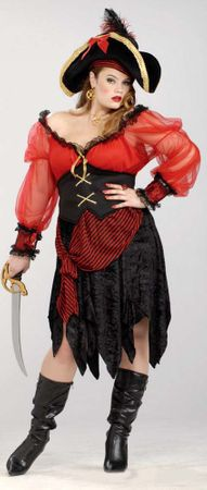 Plus Size Buccaneer Beauty Pirate Costume