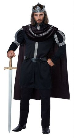 Plus Size Dark Monarch King Costume