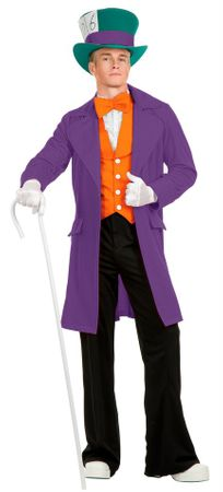 Plus Size Deluxe Adult Purple Mad Hatter Costume