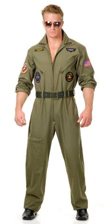 Plus Size Deluxe Adult Wingman Fighter Pilot Costume