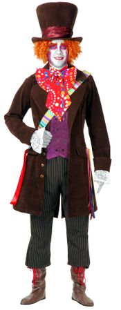 Plus Size Deluxe Electric Mad Hatter Costume with Hat and Pants