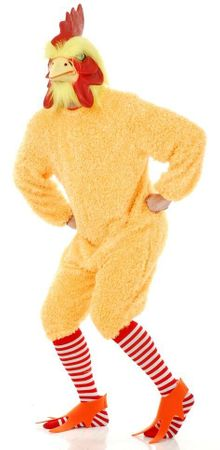 Plus Size Deluxe Yellow Rocking Rooster Costume With Mask