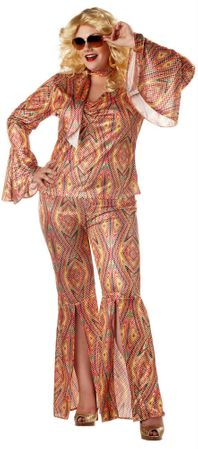 Plus Size Discolicious Sexy 70's Costume
