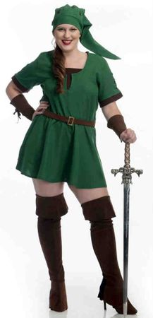 Plus Size Elf Warrior Princess Costume