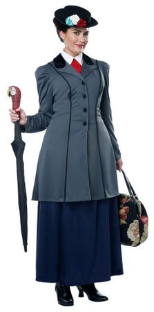 Plus Size English Nanny Costume