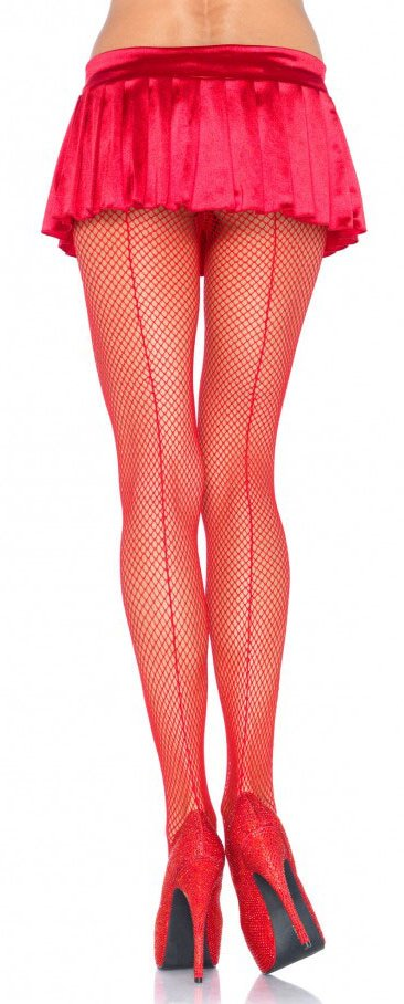 b4e30380d ... Plus Size Fishnet Backseam Pantyhose - More Colors ...