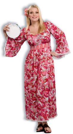 Plus Size Flower Child Hippie Costume
