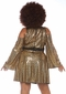 Plus Size Women's Gold Disco Doll Costume