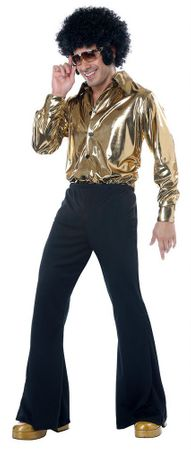 Plus Size Gold/Black Disco King Costume