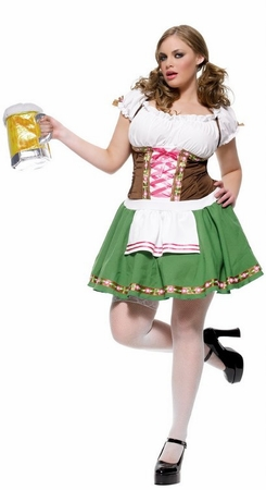 Plus Size Gretchen German Beer Girl Costume
