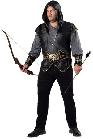 Plus Size Hooded Huntsman Costume