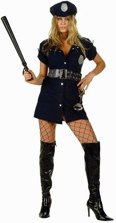 Plus Size In the Line of Duty Cop Costume
