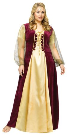Plus Size Juliet Renaissance Costume