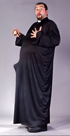 Plus Size Keep Up the Faith Priest XXXL Costume