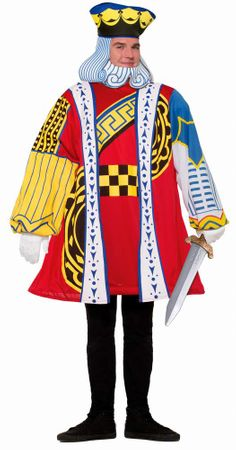Plus Size King of Hearts Card Costume