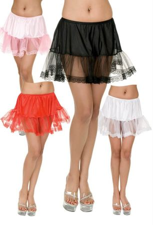 Plus Size Lace Edge Petticoat