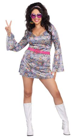 Plus Size Love Fest Hippie Costume