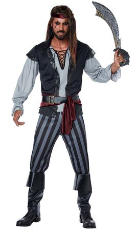 Plus Size Men's Scallywag Pirate Costume