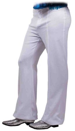 Plus Size Men's White 70s Disco Pants