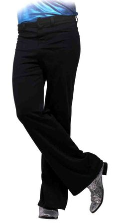 Plus Size Men's Black 70s Disco Pants
