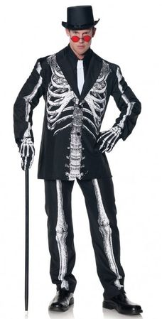 Plus Size Men's Bone Daddy Skeleton Suit Costume