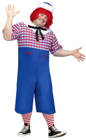 Plus Size Men's Licensed Raggedy Andy Costume