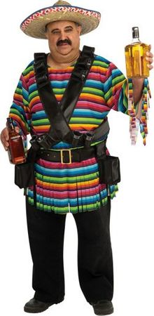 Plus Size Mexican Hombre Costume