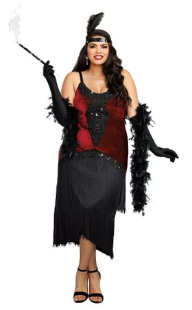 Plus Size Million Dollar Baby Flapper Costume