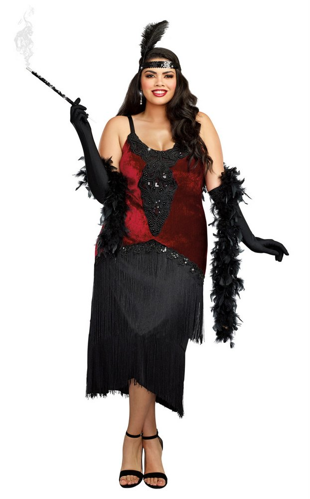 Plus Size Million Dollar Baby Flapper Costume- Candy Apple ...