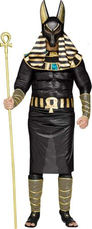 Plus Size Muscle Chest Anubis Costume