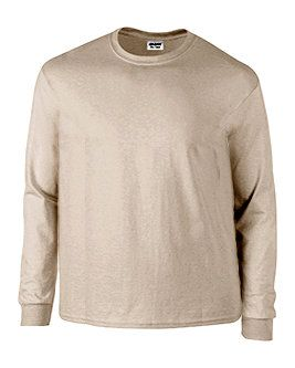 Plus Size Natural Cream Long Sleeve Tee Shirt