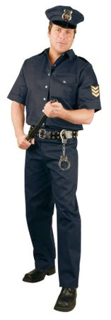 Plus Size Navy Police Officer Costume