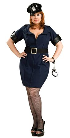 Plus Size Officer Law Sexy Cop Costume